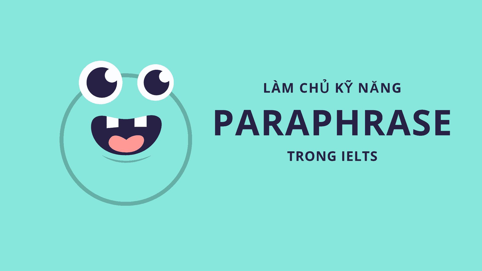 TỪ VỰNG PARAPHRASE THEO CHỦ ĐỀ CHO TASK 1 BY NGOCBACH